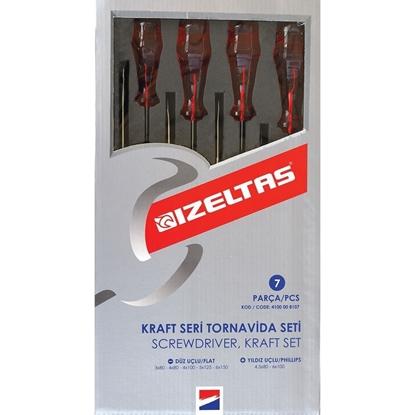 İzeltaş 4100 Kraft Seri Tornavida Seti (7 Parça) resmi