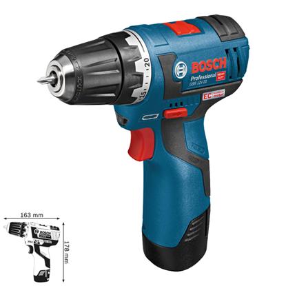 Bosch GSR 12V-20 Professional Akülü Delme Vidalama resmi